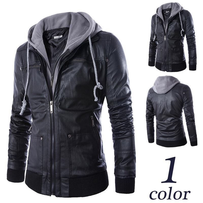 Leather hoodies