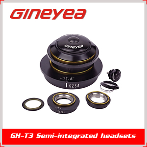 "GINEYEA GH-T3 Semi-integrated 1-1/8"" adjustable angle tapered bicycle headsets for Road bike/MTB"