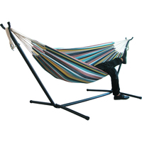 Folding stainless steel hammock stand with cotton double or single hammock