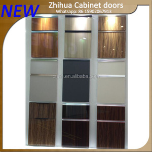 ZHUV New Acrylic Color Design Kitchen Cabinet Door with 30 or 45 degree Slide