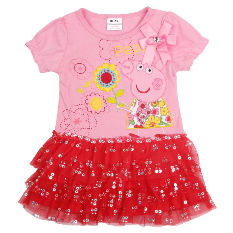 retail wholesale baby clothes nova kids factory cartoon girls dresses kids girl party dress fashion princess dress