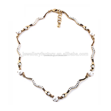 Newest Statement Fashion Pearl Snake link Necklace