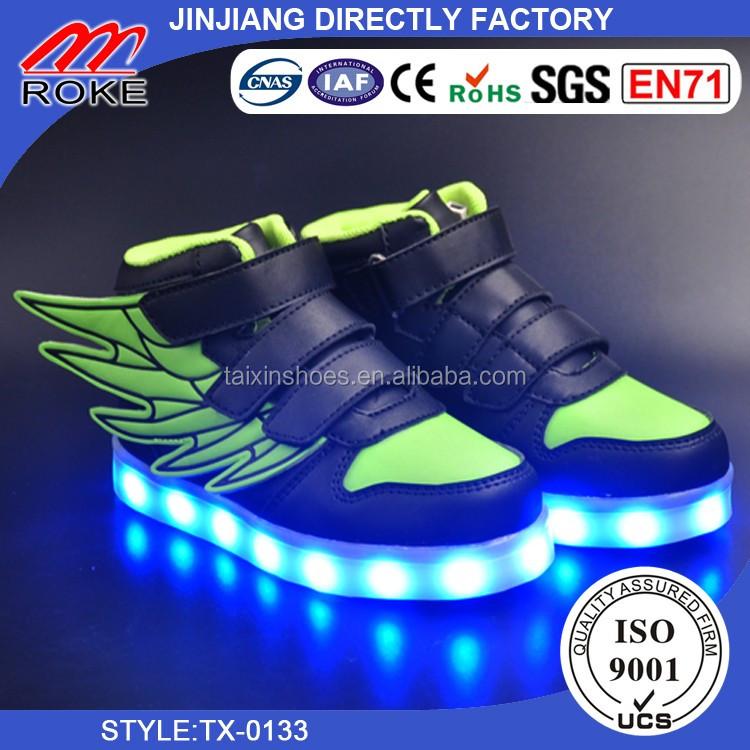 Boys Girls USB Charge LED Light Shoes Kids Luminous Sneakers Sports