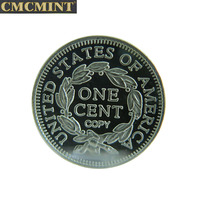 Best selling products old islamic coins 1 Gram 999 Fine Silver 1846 1 Cent Round chinese