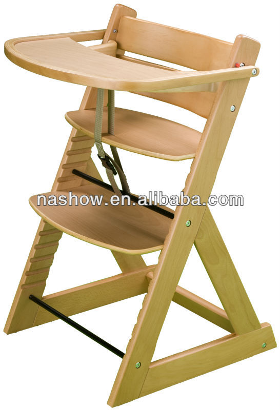 Natural de madera silla alta de beb sillitas para bebes identificaci n del producto 701098470 - Silla de mesa para bebe ...