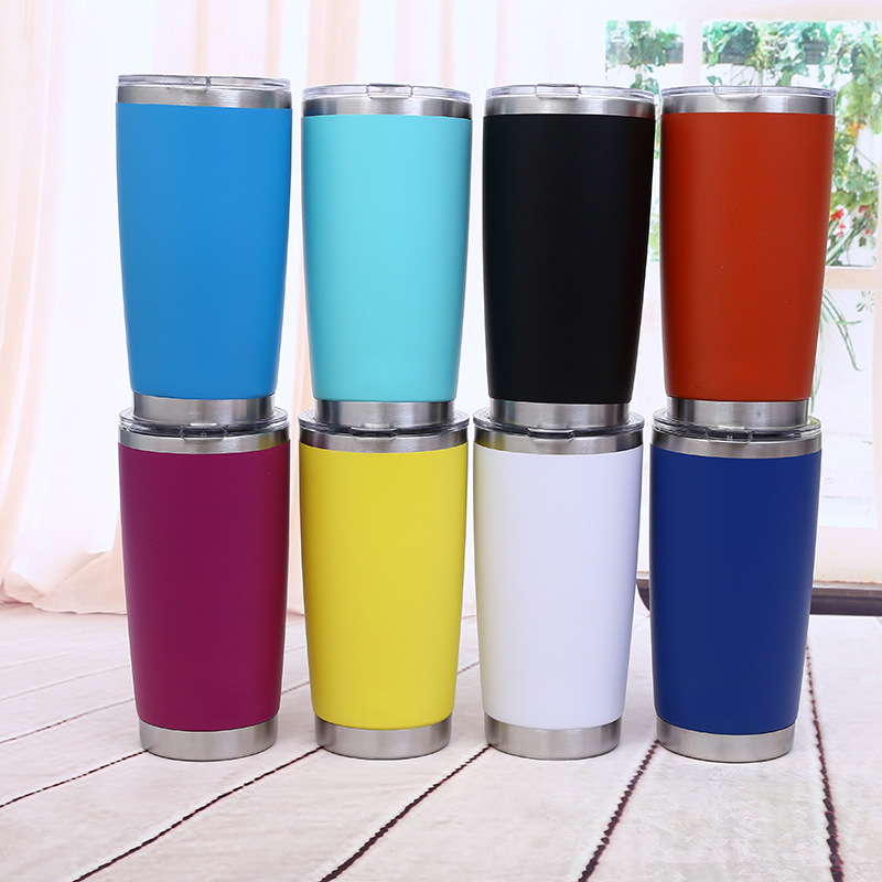 14/20oz Customized Candy Colors Vacuum Insulated Stainless Steel Skinny Tumbler with Lids and Straws