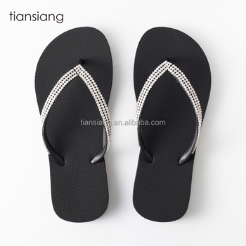 b787a1665 new model women sandals Shiny diamond strap slippers outdoor natural rubber flip  flops
