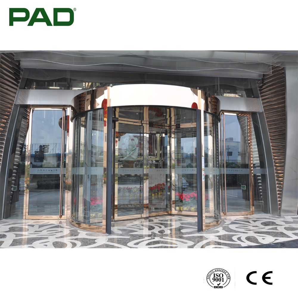 Wide Voltage Luxury 2-wing Automatic Revolving Door with CE Certificate