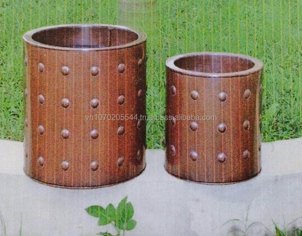 Festive outdoor decor flower brim metal zinc pot