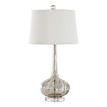 New Product Modern Clear Bubble Glass Table Lamp With Crystal Base
