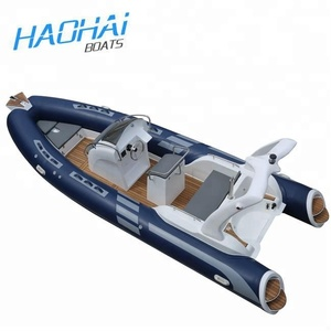 19ft 5.8m Rigid Hull RIB Military Inflatable Hypalon Fishing Boats with Outboard Motor