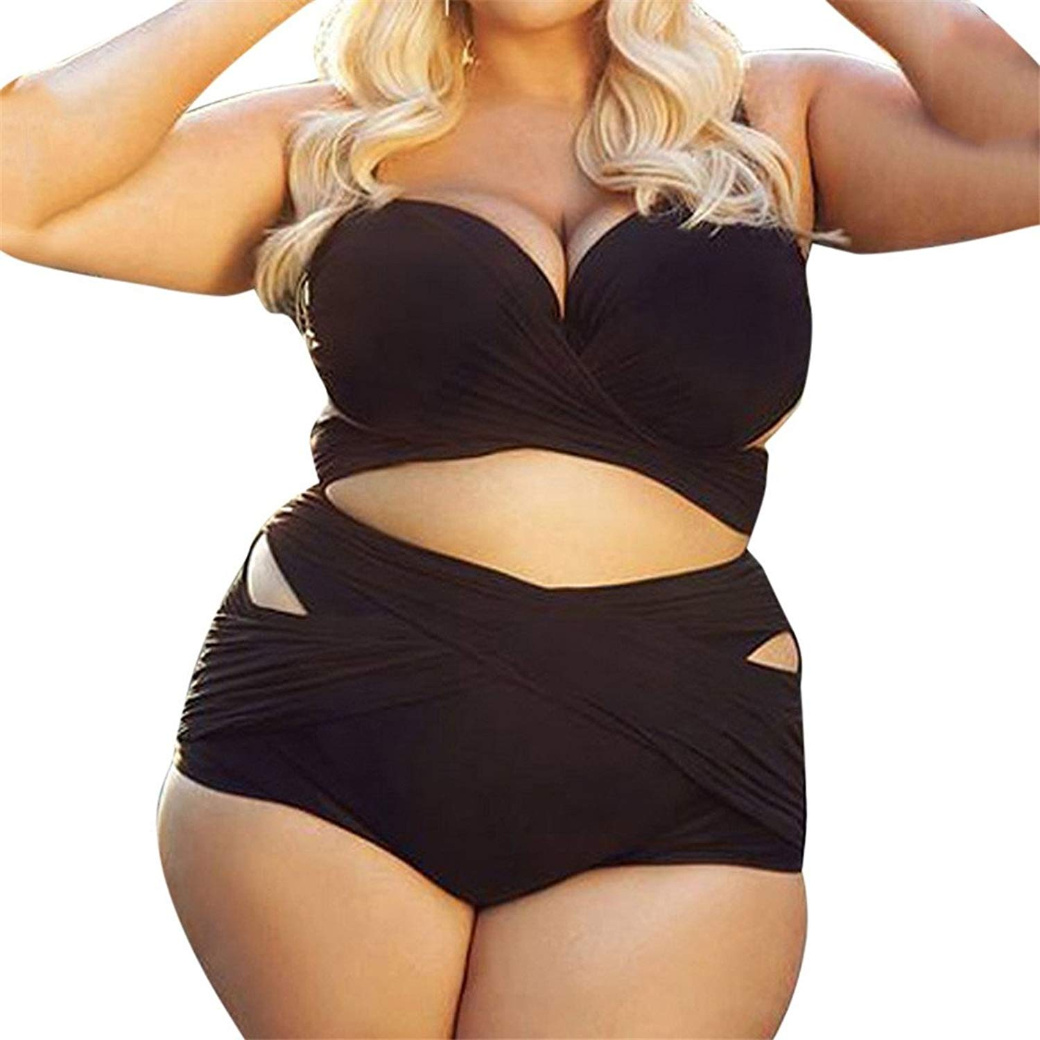 703c393eb310f Get Quotations · Mose Plus Size Swimsuits for Big Women