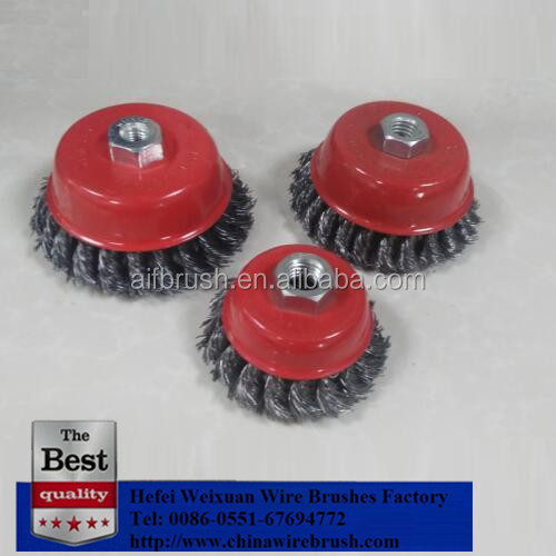 Perfect Rust Paint Remover Twist Knot Cup wire wheel Brush
