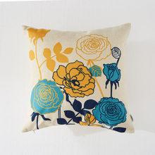 Topfinel мультфильм листья подушки с птицами Чехлы хлопковый льняной цветочный принт наволочки для домашнего декора диван стул кровать(Китай)