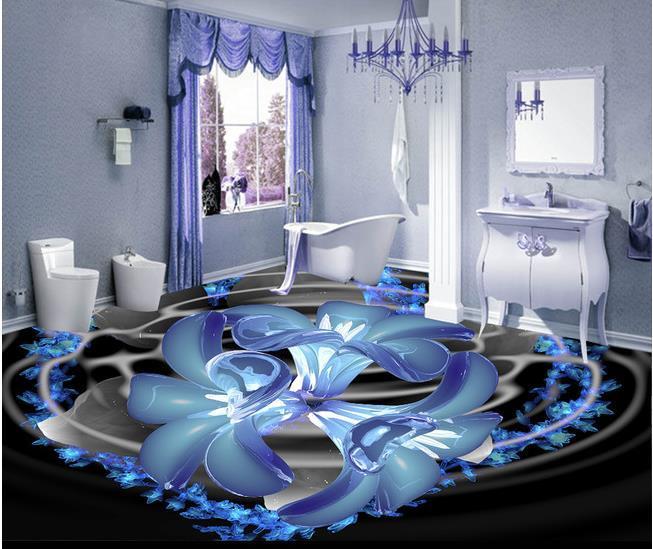benutzerdefinierte foto boden tapete 3d stereoskopische kristall boden 3d wandbild pvc tapete. Black Bedroom Furniture Sets. Home Design Ideas