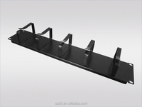 Metal D-ring 2U Cable Management Bar for 19'' Network Rack