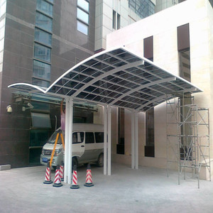 polycarbonate roof mobile carport for car shelter