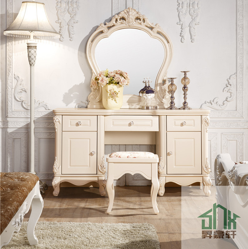 Muebles de dormitorio de estilo franc s ha 913 for Diseno de dormitorio blanco
