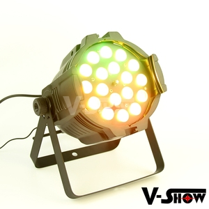 DMX zoom led par light 18 x 18w RGBWA+UV led par zoom lighting equipment stage light wash zoom led par
