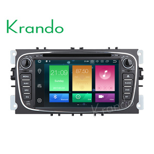 Krando Android 8.0 7'' 8-core car audio dvd player for Ford Focus/Mondeo/CMax /S-Max /Galaxy II 08-12 radio KD-FU702