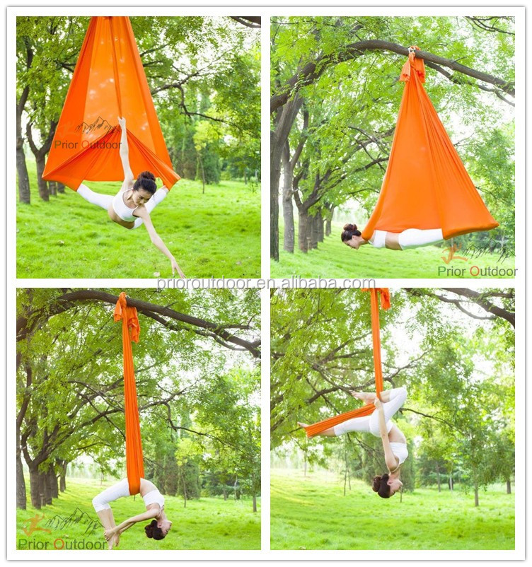 High Strength 900KGS Flying Yoga Hammock For Aerial Yoga Hammock(See 18 Fabric Colours)