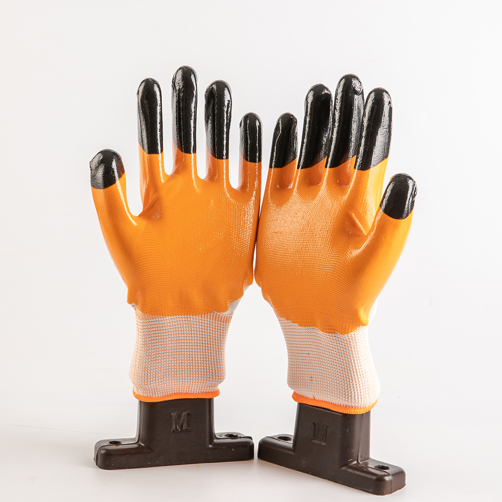 Hot selling nitrile coated safety hand working  gloves