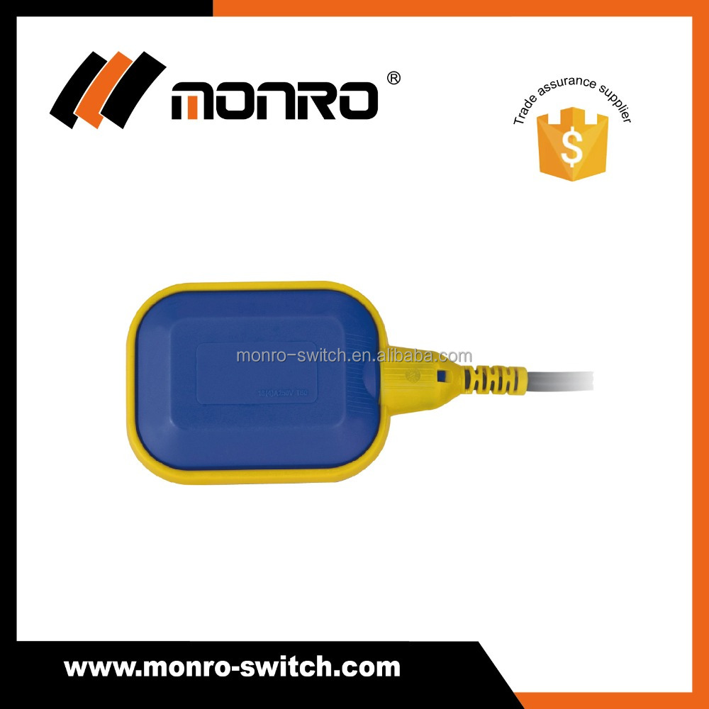 monro manufactory float type level switch blue/black yellow side FPS-1