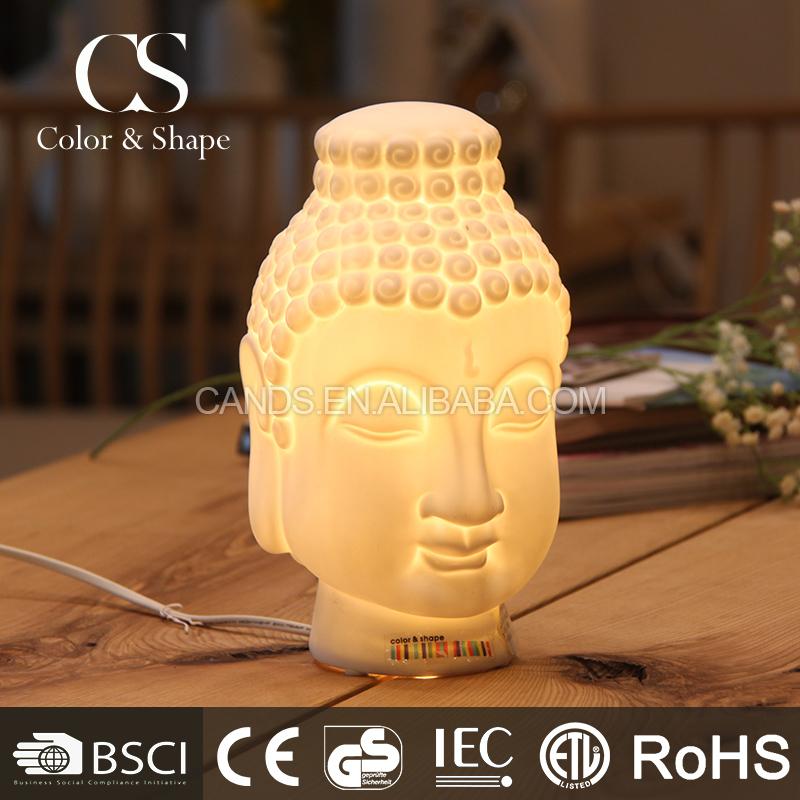 Modern Ceramic Artistic Buddha Head Table Lamp For Decor