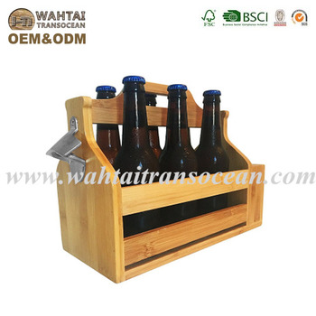 Wooden 6 Pack Beer Carrier Comes With Two Beer Flightsholdermounted Bottle Opener Buy Bottle Carrierwooden Beer Cratewooden Beer Carrier Product