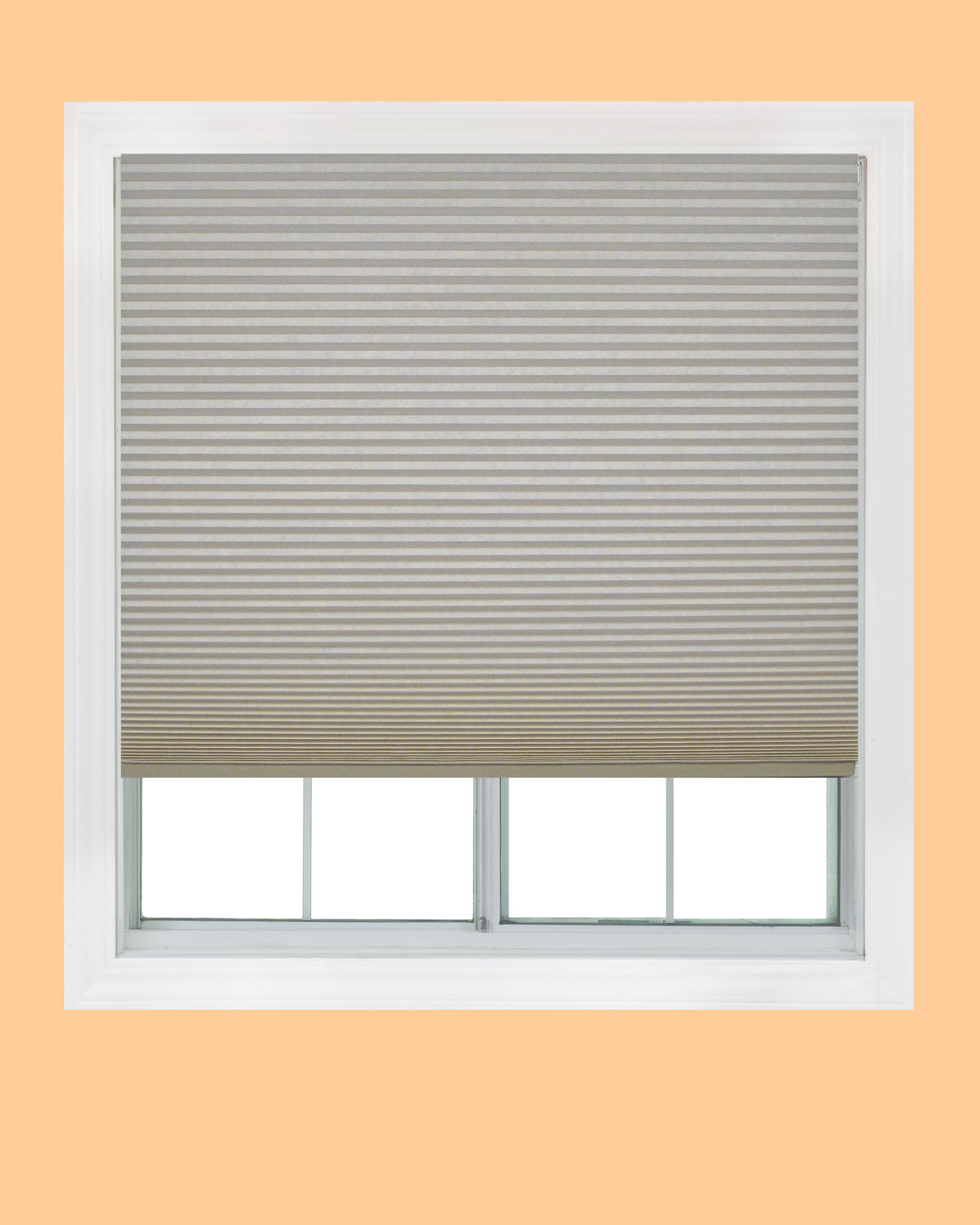 Easy Lift, 48-inch by 64-inch, Trim-at-Home (fits windows 28-inches to 48-inches wide) Cordless Honeycomb Cellular Shade, Light Filtering, Natural