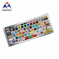 Factory Direct Supply Custom Cartoon Anime Cute keyboard Label for Laptop with High Quality