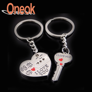 Custom hard enamel zinc alloy metal key chain free samples