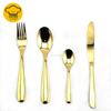Wholesale Creative Titanized Gold Plated Flatware Bulk Gold Cutlery Set