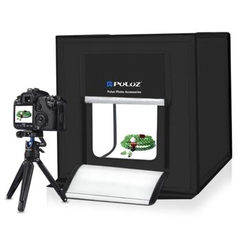 puluz 60cm folding portable 60w 5500lm white light photo lighting