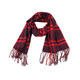 Big Check Design Grey And Wine Color High Quality Acrylic Scarf With Tassel