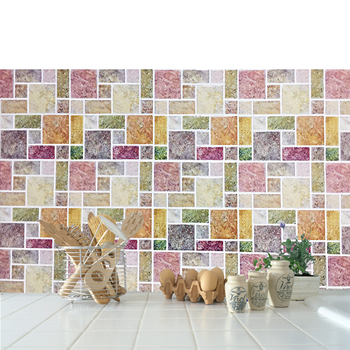 Ceramic Wall and Floor Tiles 3d Mosaic Bathroom Self adhesive Wall Tile Stickers