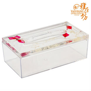 clear acrylic(PMMA) tissue box OEM: