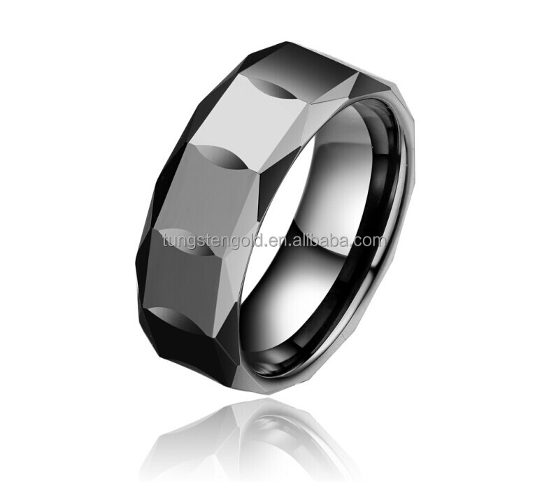 Fashion Ceramic Jewelry Faceted Men Women White Ceramic Rings