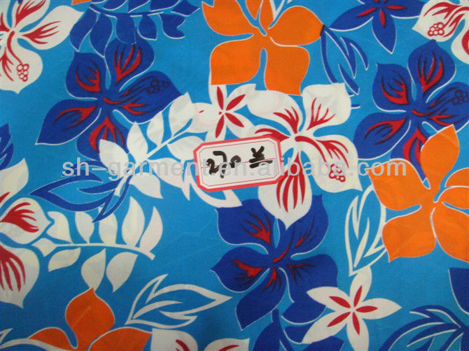 hawaiian shirt print fabric H700