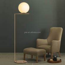 Modern Decorative Lighting, Indoor Designer Stand Gold glass Floor Lamp