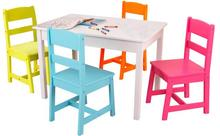 2016 Modern european style high quality and low price colorful children furniture study table and chair kid table and chair