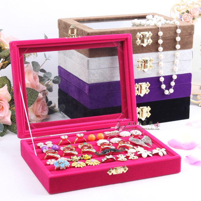 acheter petite bo te bijoux bague anneau de couvercle en verre bo te de. Black Bedroom Furniture Sets. Home Design Ideas