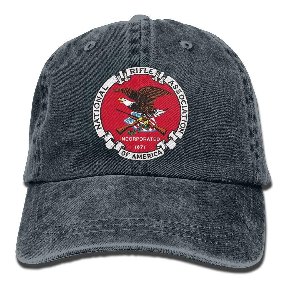 dfe85f7d135 Get Quotations · National Rifle Association NRA Dad Hat Adjustable Denim Hat  Classic Baseball Cap
