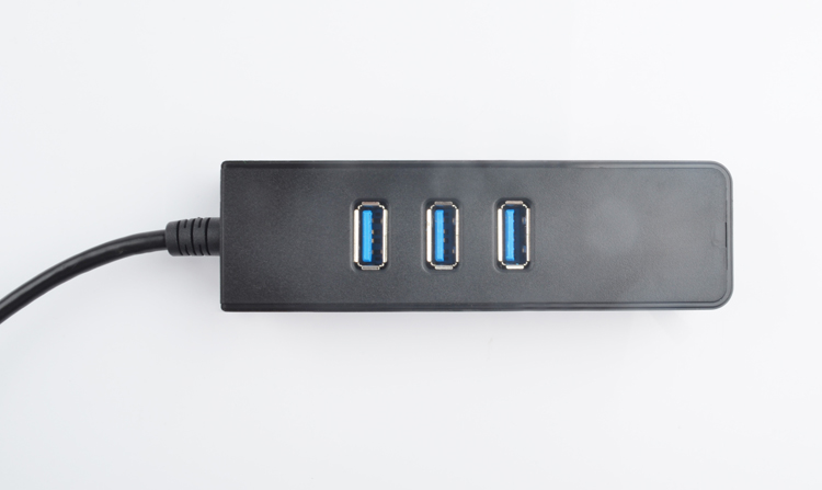 3-Port Superspeed Usb 3.0 Hub dengan Gigabit Ethernet