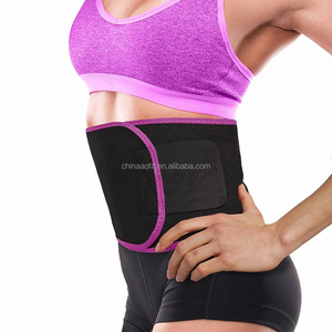 Rose Red Customized adjustable Neoprene Waist Trimmer Slimmer Belt For Men and Women