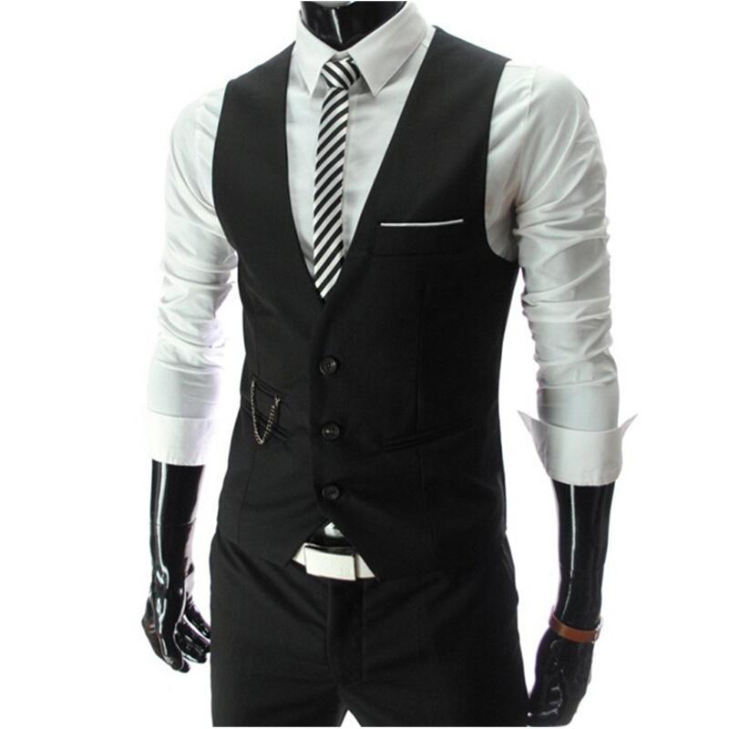 2016 New Arrival Dress Vests For Men Slim Fit Mens Suit Vest Male Waistcoat Gilet Homme