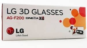 2 Pairs LG 3D TV Theater 3d Glasses - Passive glasses For Your 3D Television