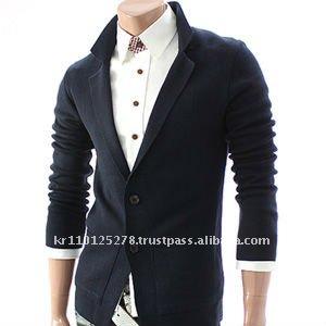 Mens Casual Knitted Blazer Jacket Cardigan 003d Navy Buy Men