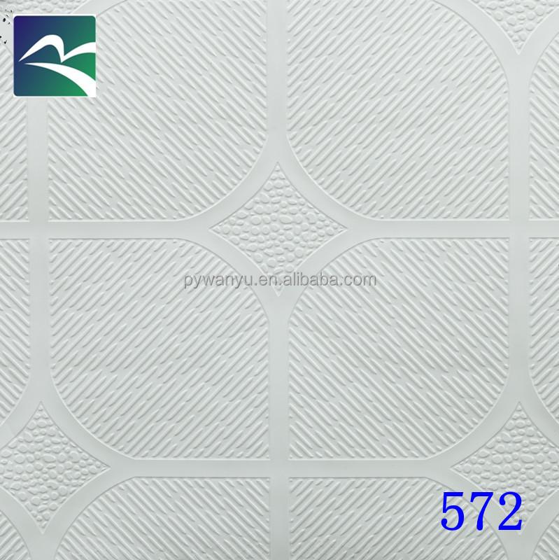 Pvc Laminated Gypsum Ceiling Tiles 572 Pvc Laminated Gypsum Ceiling