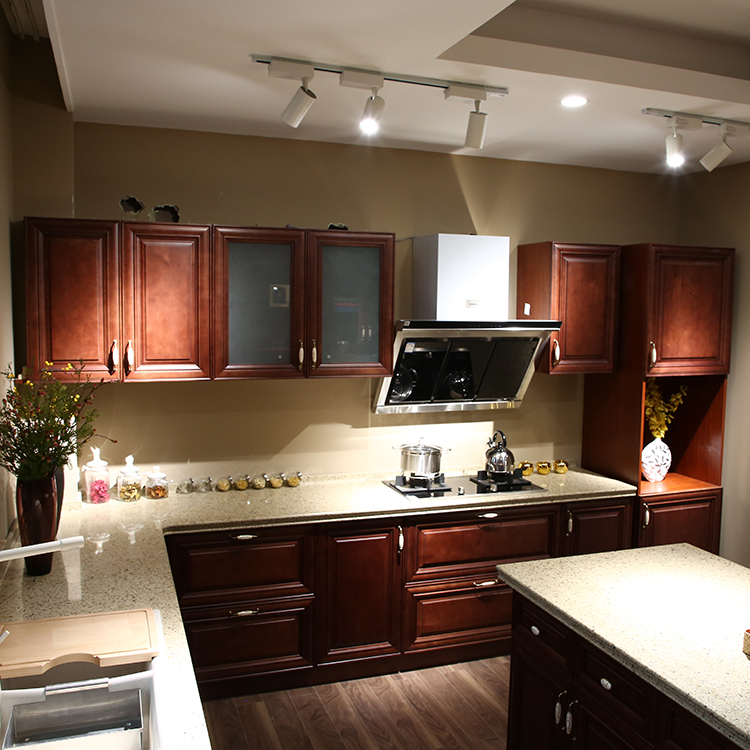 Kitchen Furniture Solid Wood China Made Kitchen Cabinets
